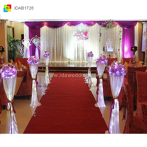 Shining Fantasy Wedding Ceremony Portable Stage Cloth Chirstmas Decorated Lighted Backdrop Design