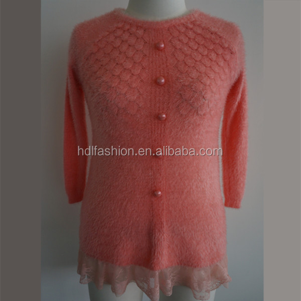 Latest Design Knitted Woman Diamond Pattern Sweater Buy Diamond