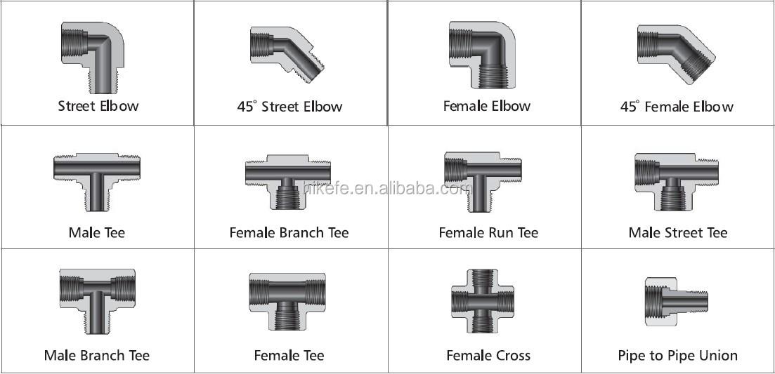High Pressure Stainless Steel Threaded Fittings Female Tee