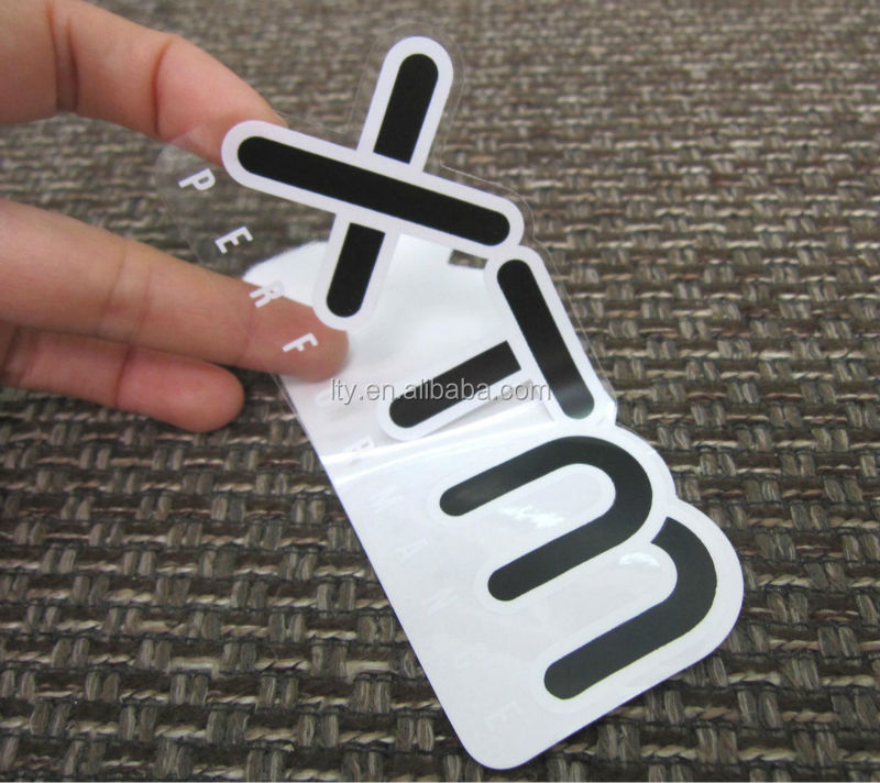 White base clear stickers with full color printing ss 513
