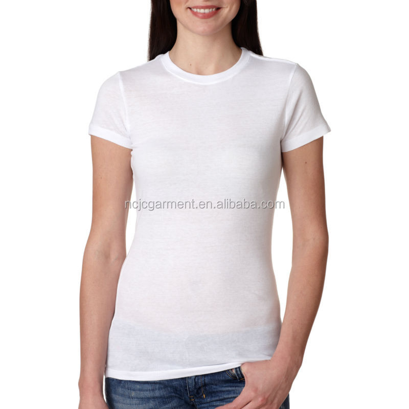 Wholesale 100% Cotton Skin Fit Plain Short Sleeve Women T Shirt ...
