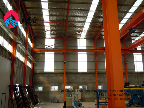 Portable design pre-made steel structural frame warehouse construction shed