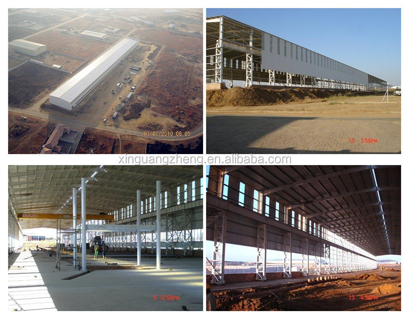 Large span prefabricated steel space frame structure fabrication warehouse building construction projects