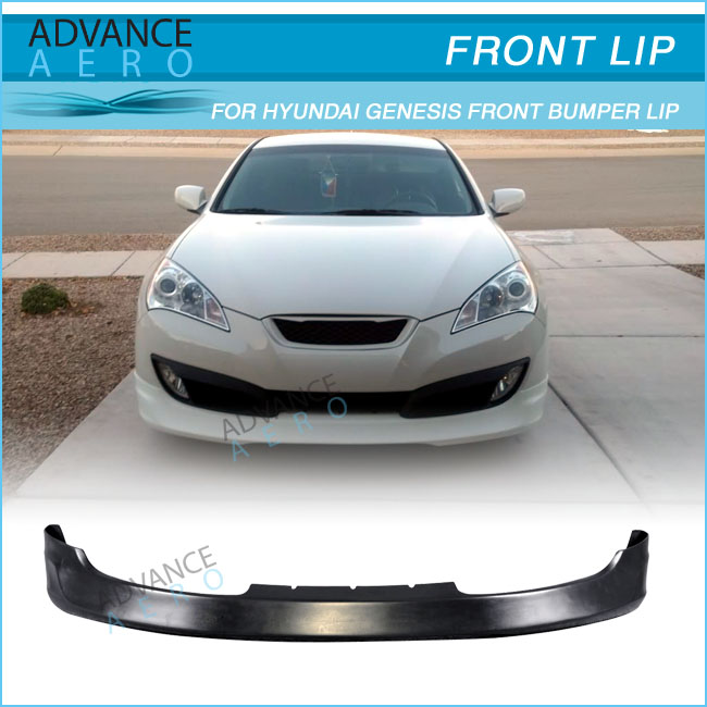 For 10-12 Hyundai Genesis 2dr Coupe Ms Style Pu Front Bumper Lip ...