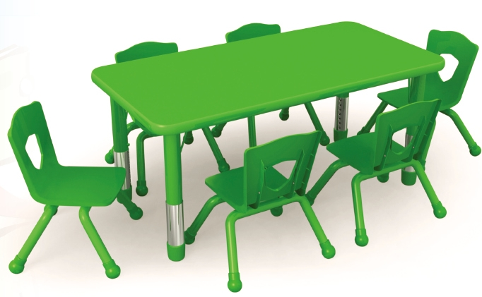 Preschool Square Table And Chairs Kids Billiard Table Colorful