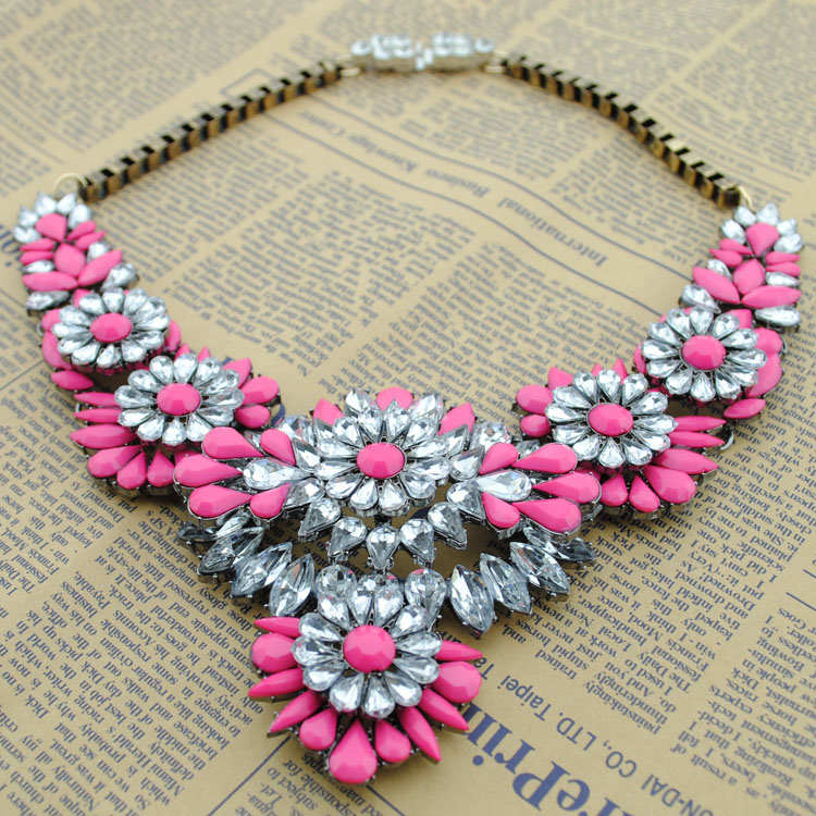 Factory Directly Wholesale Order American Style Fashion Necklace 2014 Latest Design Statement Necklace Fashion Jewelry shourouk