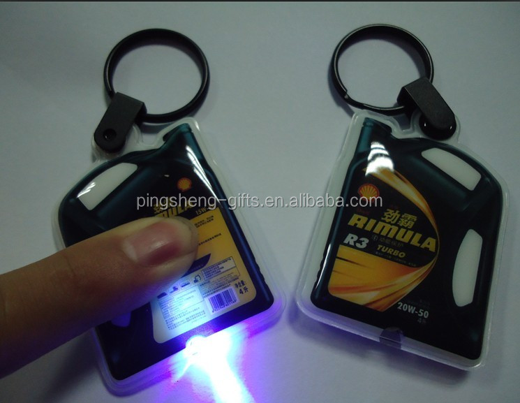 flashlight shape led keyring