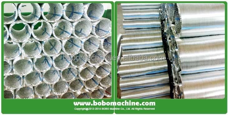 Aluminum flexible ventilation duct machine