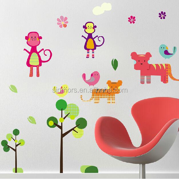new fashion hutan monyet wall sticker/vinyl stiker dinding untuk