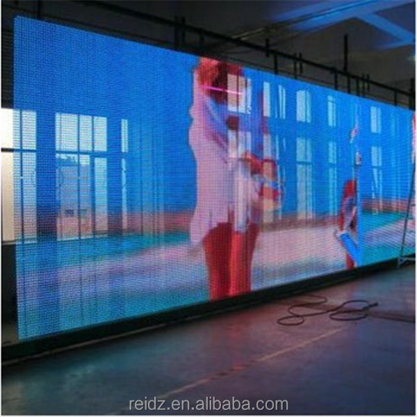 Transparent Led Net Mesh Screen Wall Window Covering