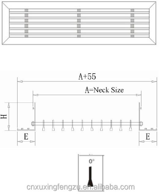 hvac grille and diffuser linear bar grille ventilation. Black Bedroom Furniture Sets. Home Design Ideas