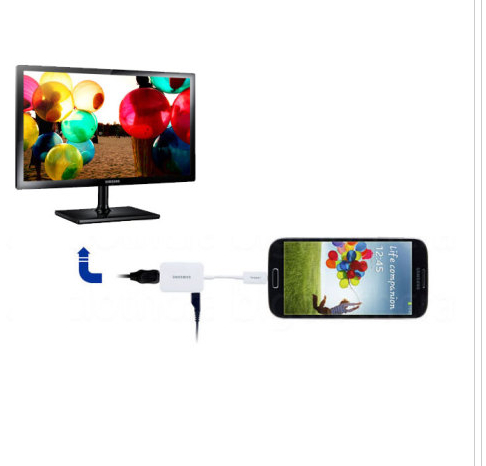 2014 MHL 2.0 HDTV Micro USB To HDMI Adapter Cable for Samsung Galaxy S4 S3 Note 2 II TAB 3 SM-T310 T311 P5200