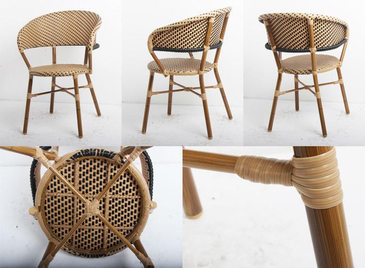 Bamboo Look Rattan Italian Restaurant Chairs