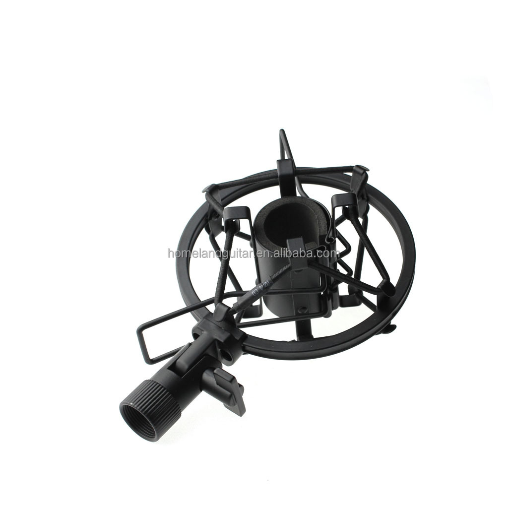replacement black microphone shock mount clip clamp for mxl 990 770 90 usb 990s spider buy. Black Bedroom Furniture Sets. Home Design Ideas