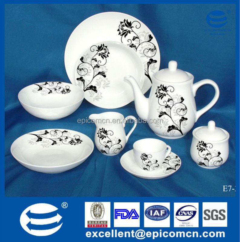 Ceramic Round Dinnerware Sets Porcelain 47pcs Dinner Set With ...