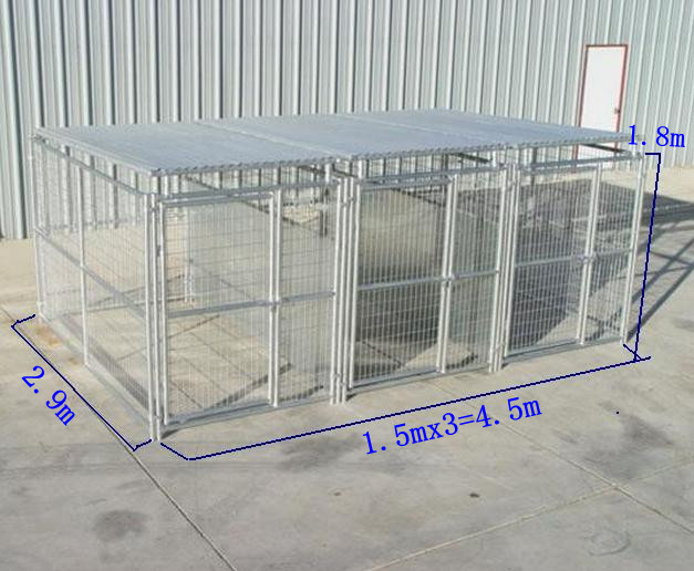 Steel Animal Protective Fences 2.9mx4.5mx1.8m Dog Kennel Fences ...