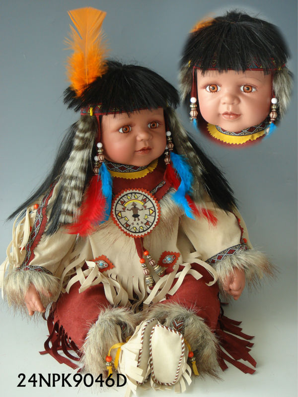 24 Vinyl Doll Native American Indian Doll View Indian