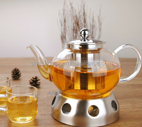 Wholesale Borosilicate Heat Resistant Clear Glass Teapot With