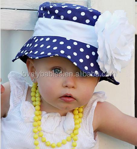 KID CUTE BABY GIRLS SUN POLKA DOT HEARTS COTTON SUMMER HAT CAP 3-24 MONTHS e9b2d01bab8