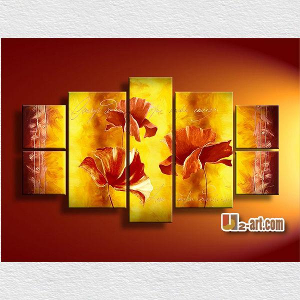 Dinding Yang Indah Gambar Bunga Besar Lukisan Di Ruang Tamu