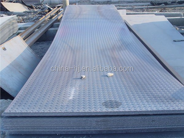 Q235/a36/ss400/st37-2 Hot Rolled Embossed Steel Plate