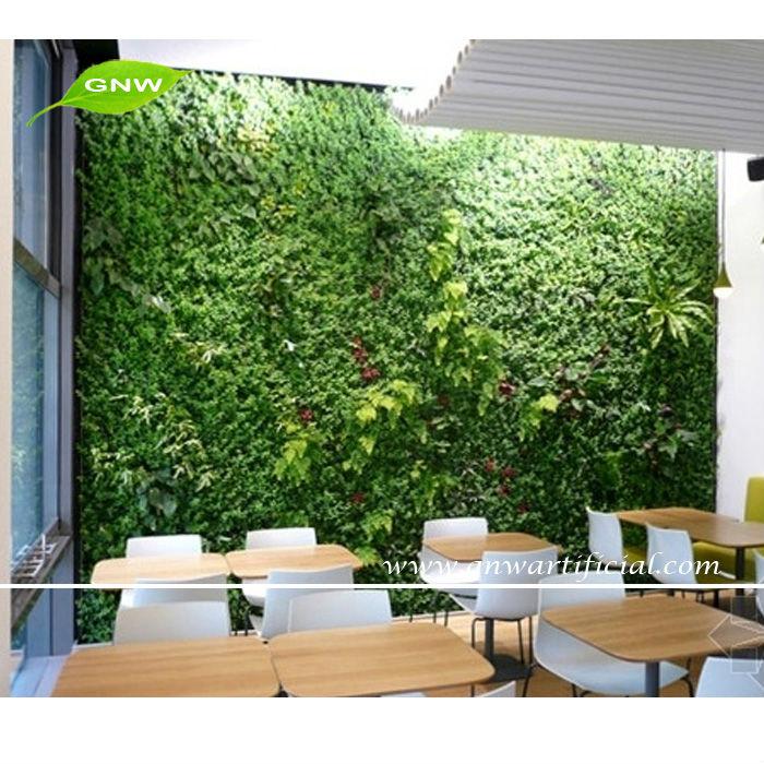 Gnw glw016 vertical garden green wall fake plastic plants for Jardin vertical artificial