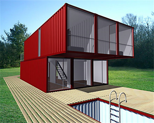 Cheap price two story container house sentry box mobile for Cheap two story homes