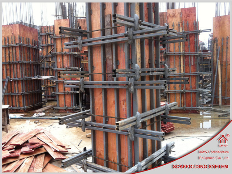 Shuttering Details For Wall : Adjustable aesthetic steel concrete column formwork with