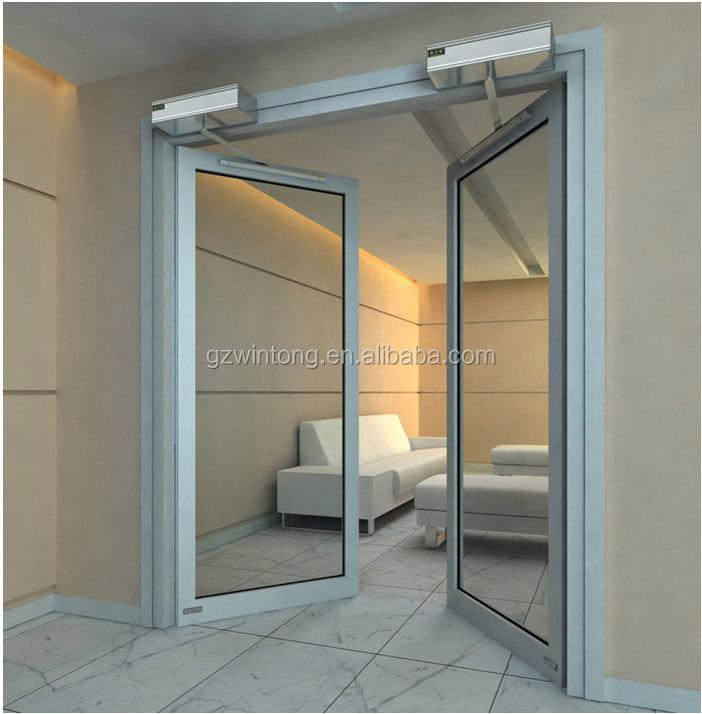 Aluminium Frame Glass Floor Spring Pivot Door - Buy Aluminium Spring ...
