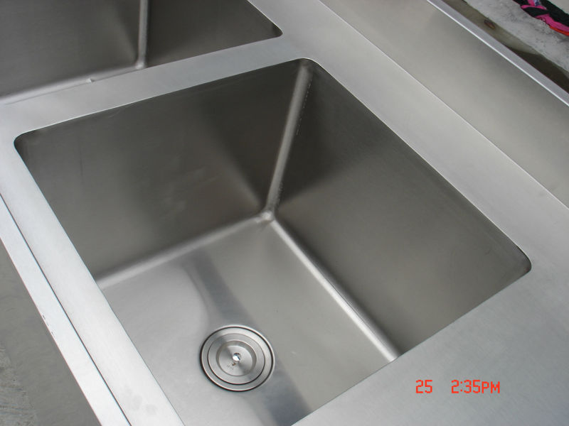 Restaurant Kitchen Sink/ Stainless Steel Sink With Drain Desk/ Wash Station  BN S20