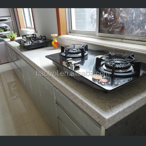High quality cultured stone one piece bathroom sink and countertop