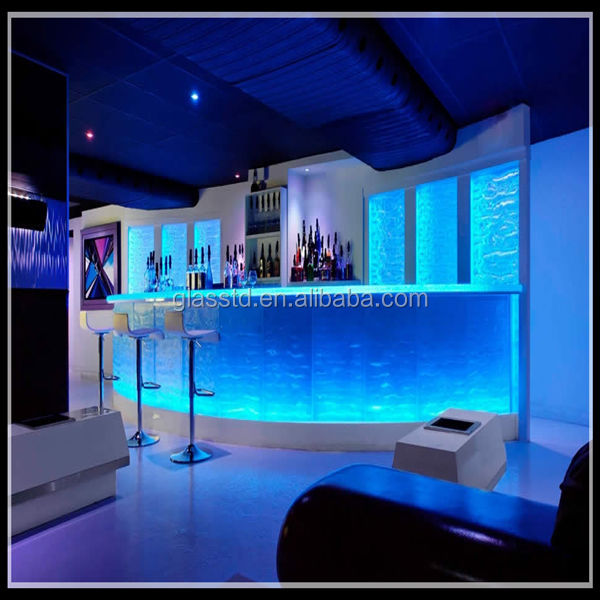 Luxury Led Lit Glass Countertops Sale Night Club Bar
