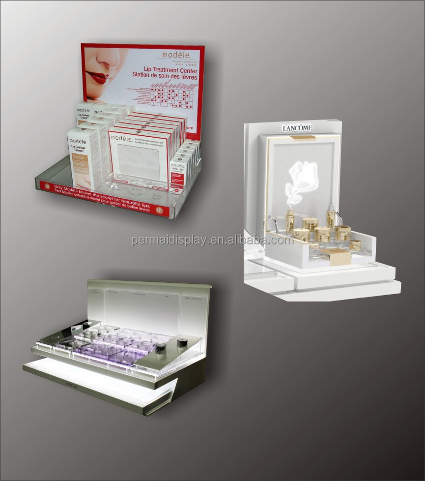 acrylic Counter top pop pos Standing Retail Display for perfume ...