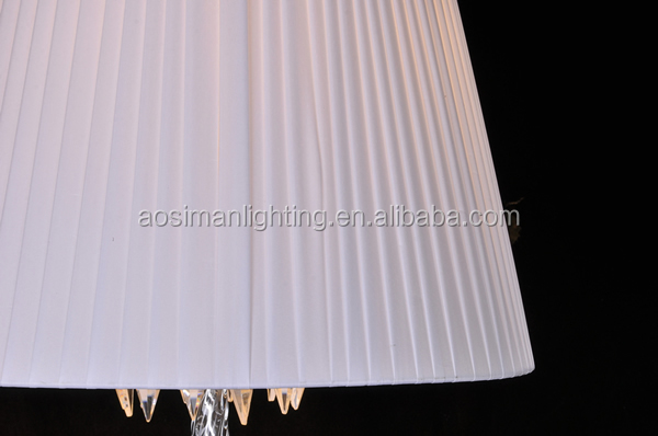 Baccarat Torch Pendant Light with White Lampshade