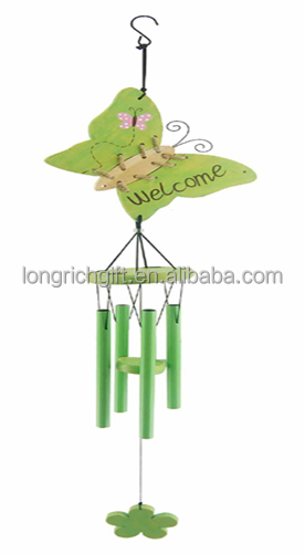 Wholesale Butterfly Decoration And Metal Wind Chime Pipe For Gift