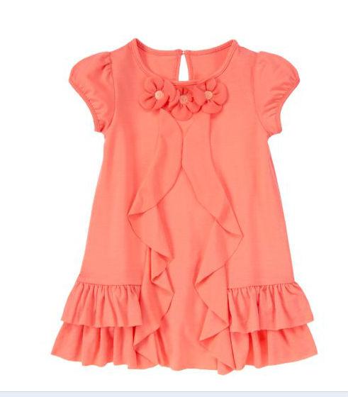 be68059d6 Phelfish nueva llegada muchacha del niño coreano marca vestidos moda 2014  niñas rayas vestido de verano