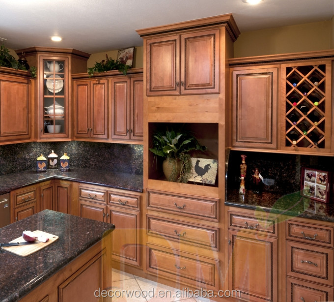 Selling Used Kitchen Cabinets: Raised Panel Solid Wood Used Kitchen Cabinets For Sale