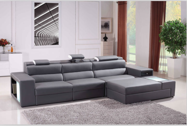 2018iving room furniture sofa with LED light in the U.S