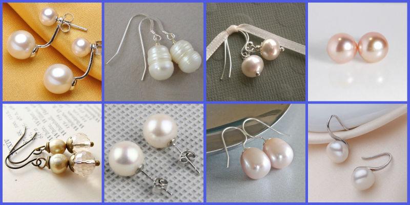 Ear-00384 Fashion New Design Alloy Hoop One Bead Pearl Tops ...