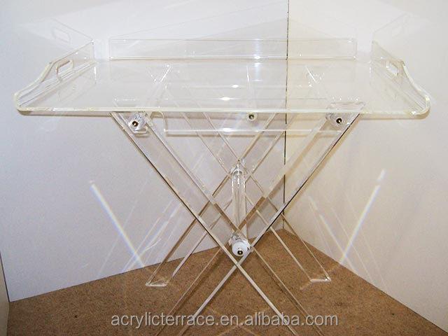 Acrylic Serving Tray Acrylic Folding Tray Table