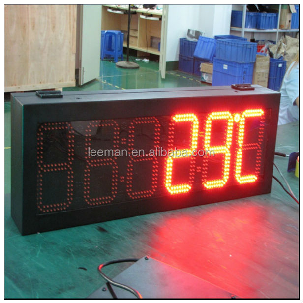 Leeman Ledman Outdoor Led Display Time Temperature Clock Digital