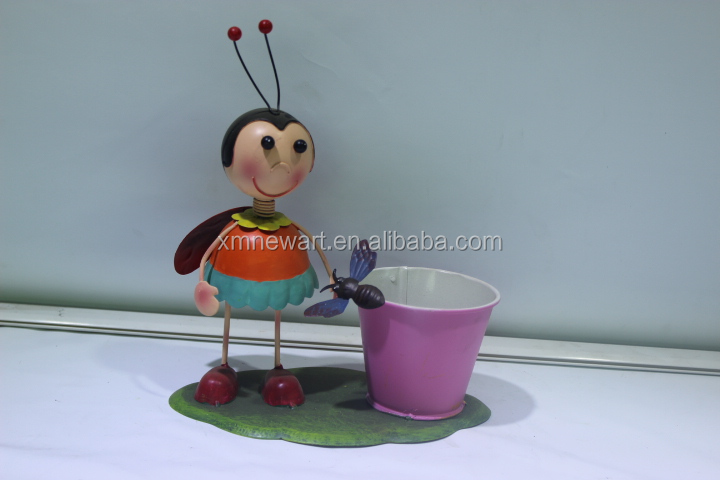 China Metal Garden Pot With Bee Statue Wholesale Art And Craft ...