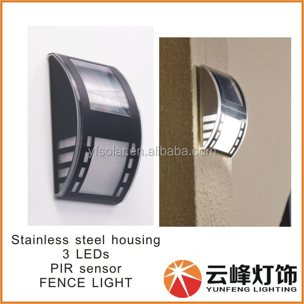 Manufacturer Led Solar Gate Wall Light,Wall Mounted Outdoor Solar ...