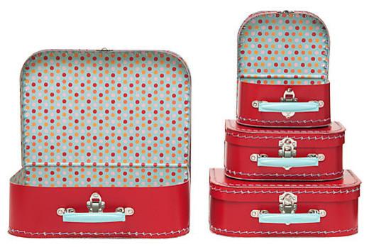 paper mache suitcase