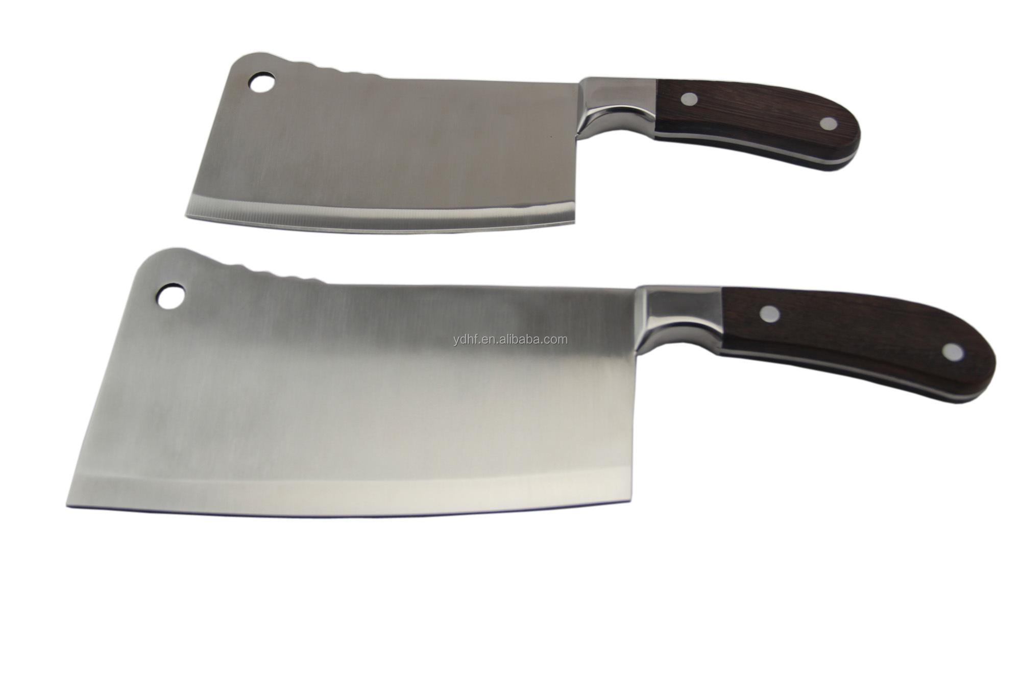 Wooden Handle Chopper Knife Chinese Knife Set Butcher