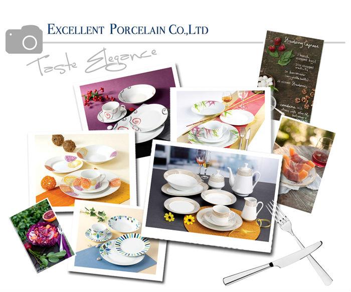 Luxury Gold Rim Dinner Plates New Bone China Salad Plates