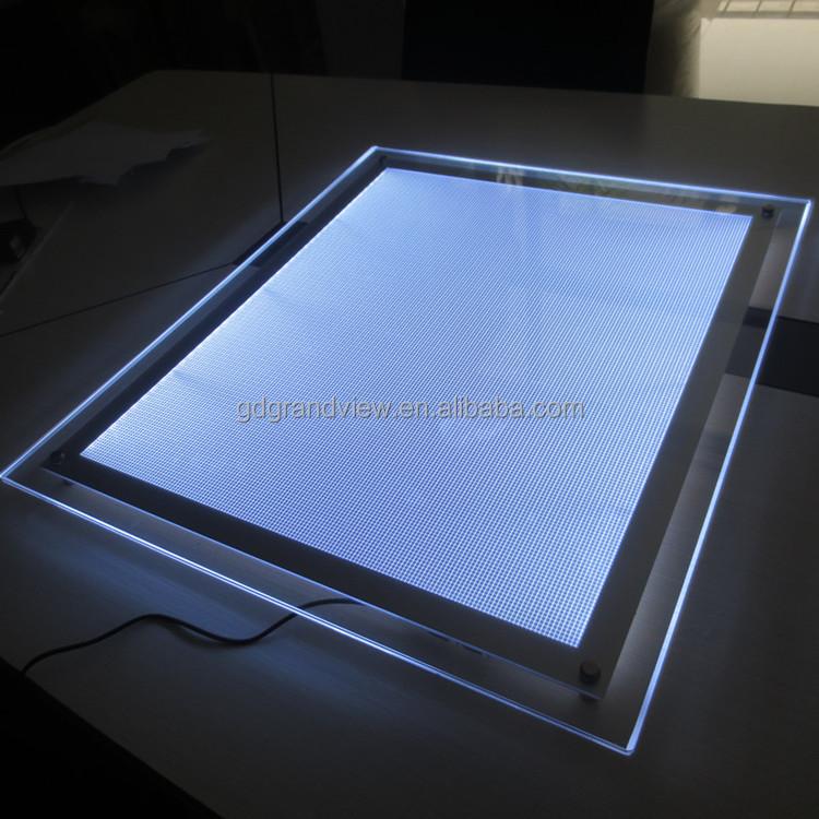 Ultra Slim Custom Acrylic Led Edge Lit Sign Buy Acrylic