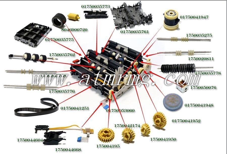 Pic Of Machinery Components : Wincor cash guide xe atm machine components