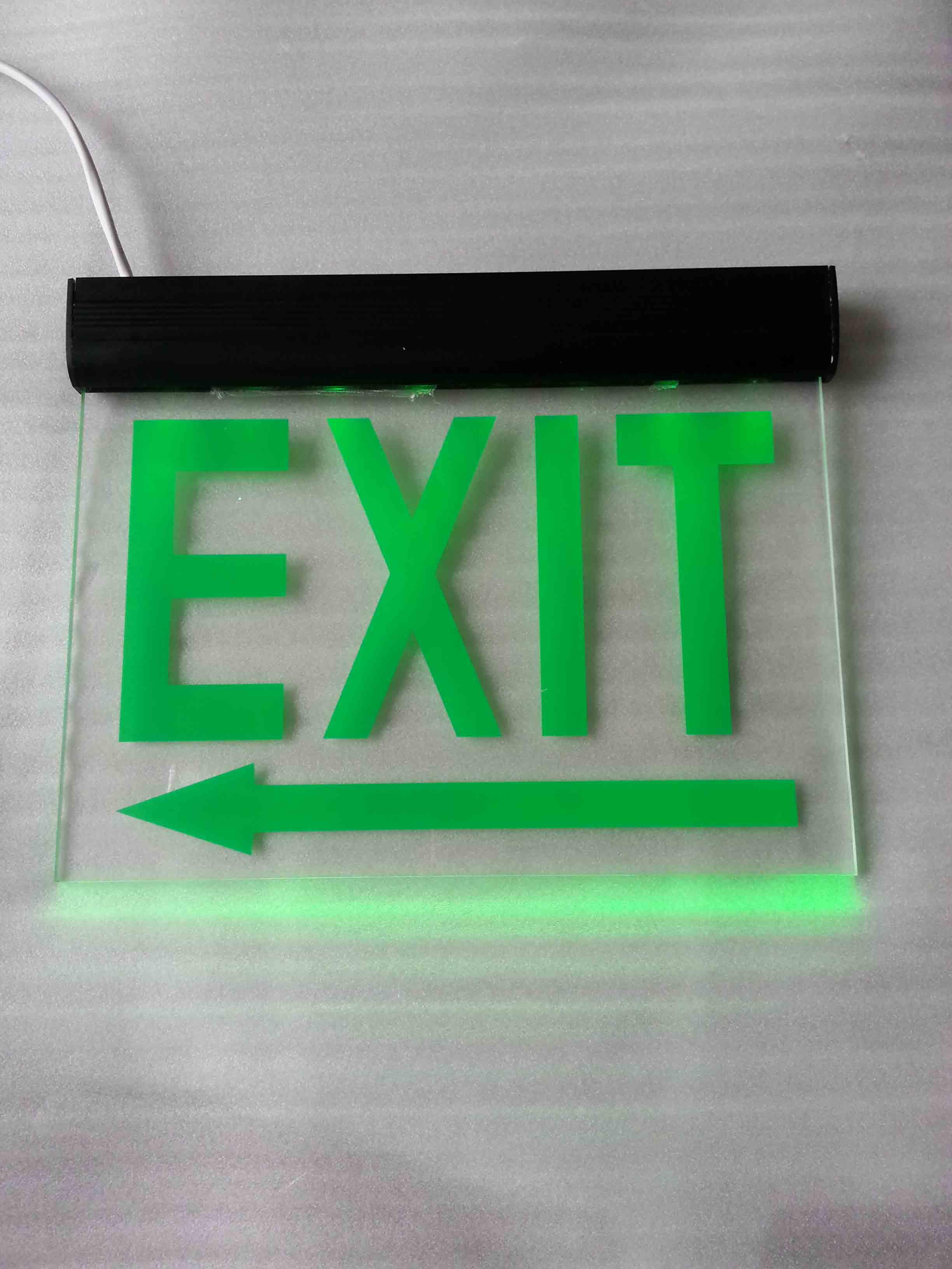 Zhuiming Acrylic Double Sides Green Led Emergency Exit Sign Light ...