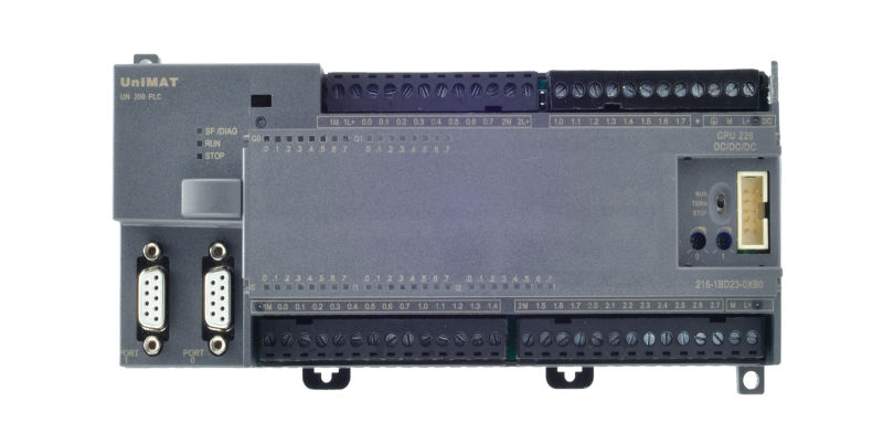chinese cpu directly logic plc 224 ac dc with relay low cost cpu, Wiring diagram